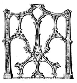 GOTHIC CHIPPENDALE CHAIR-BACK.