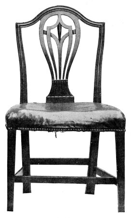 MAHOGANY CHIPPENDALE CHAIR. ABOUT 1740.