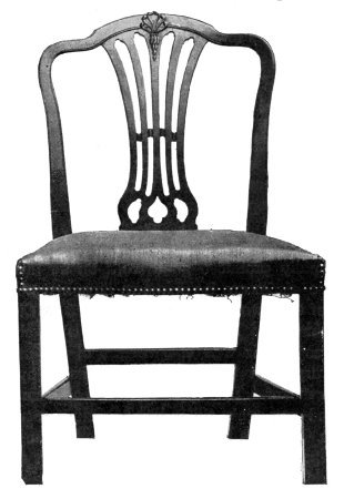 MAHOGANY CHIPPENDALE CHAIR. 1770.