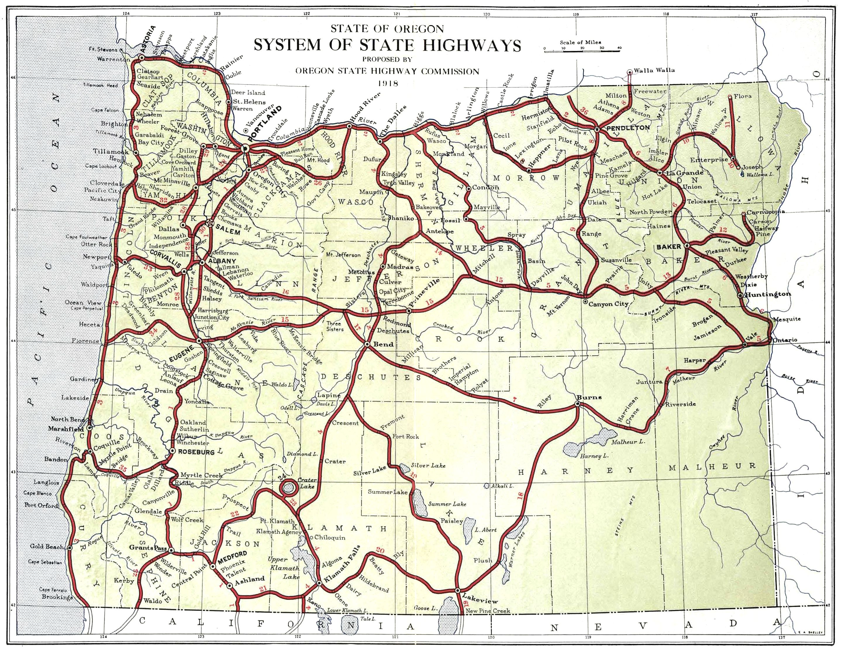 The Project Gutenberg EBook Of Third Biennial Report Of The Oregon - Map of oregon highways