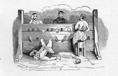sitting in the stocks