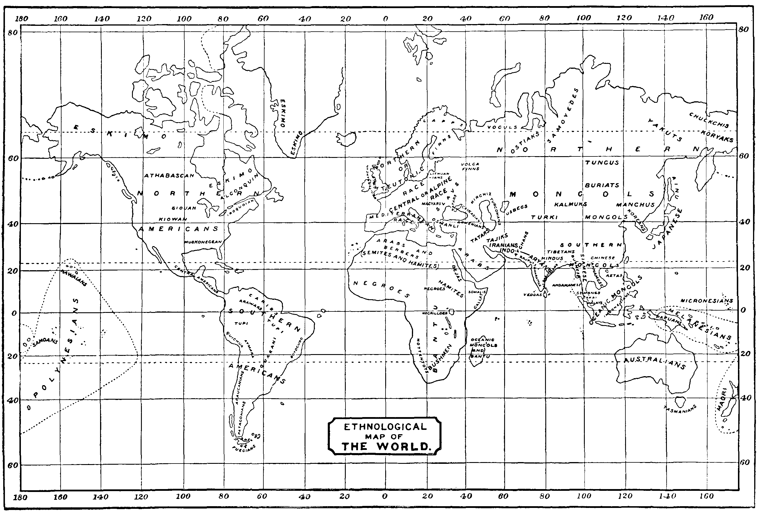 ethnological map of the world
