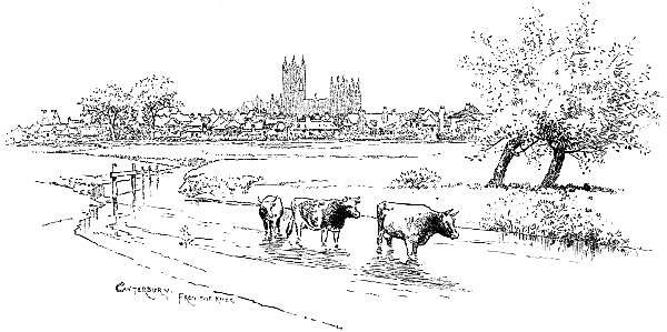 Canterbury, from the river.
