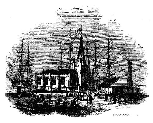 'THE FLOATING CHURCH OF OUR SAVIOUR.' from the web at 'http://www.gutenberg.org/files/36405/36405-h/images/image6.jpg'