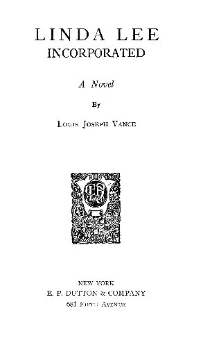 The Project Gutenberg Ebook Of Linda Lee Incorporated By Louis