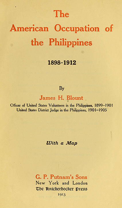 The American Occupation of the Philippines: 1898–1912