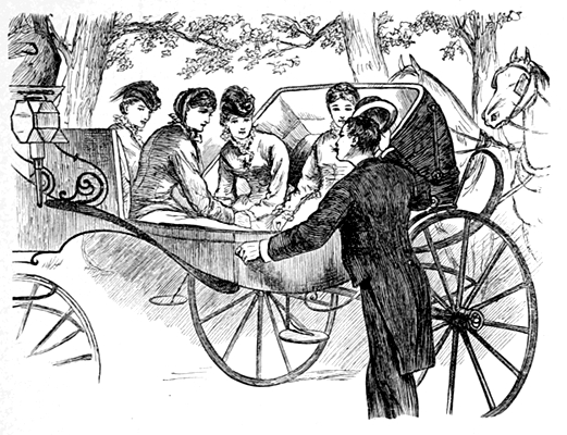 He put the sisters into the carriage