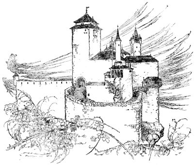 The castle surrounded by briars