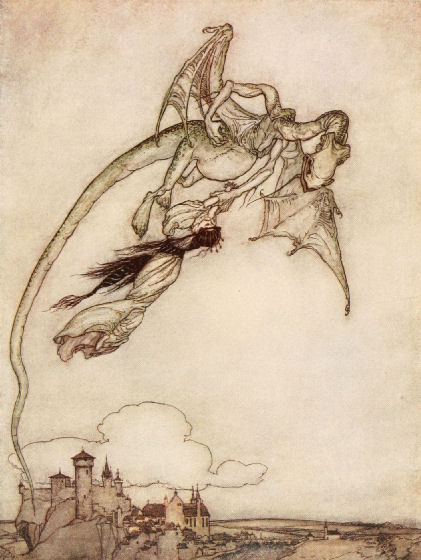 The King's only daughter had been carried off by a Dragon.