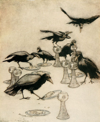 But they said one after another: 'Halloa! who has been eating off my plate? Who has been drinking out of my cup?'
