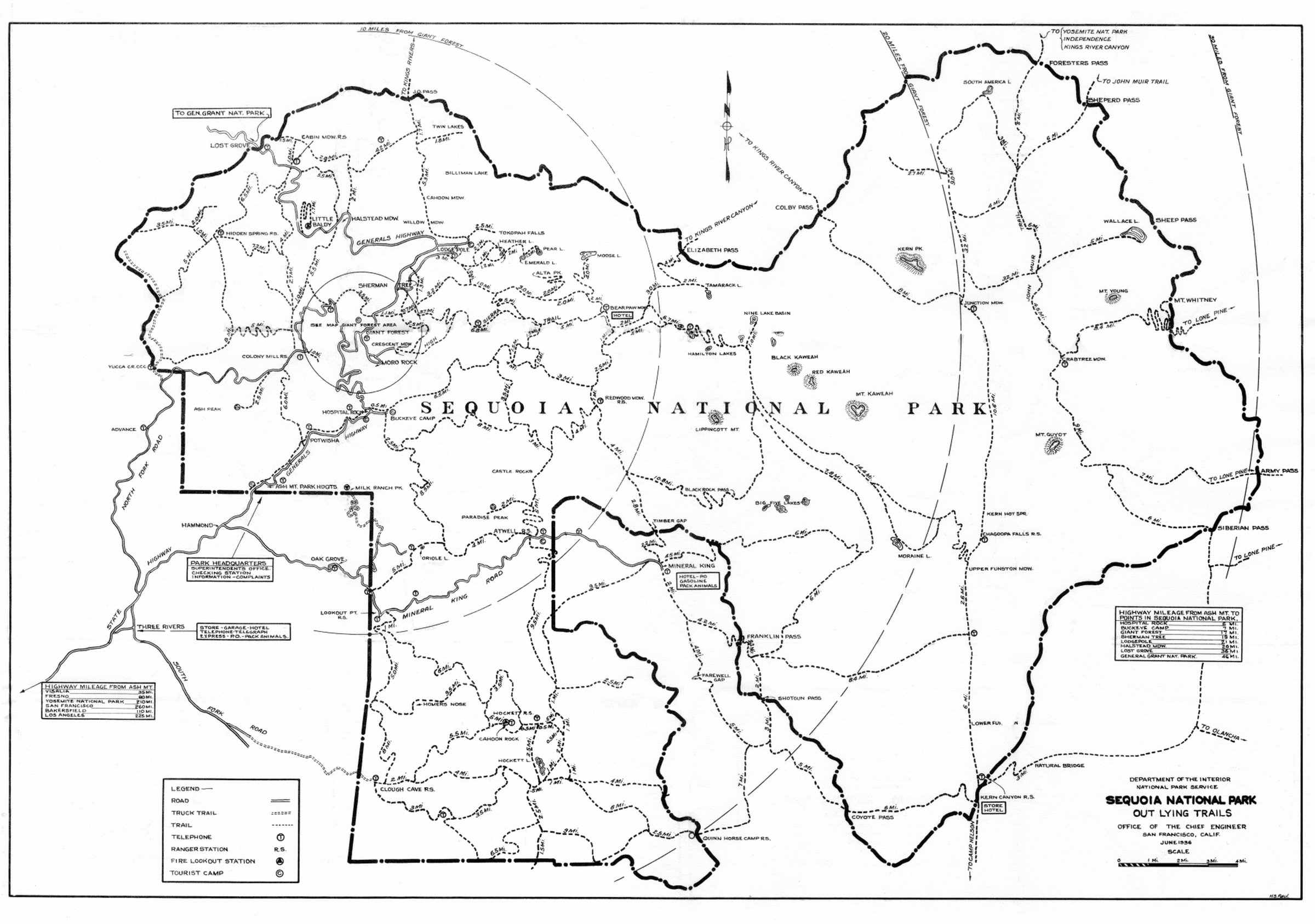 Sequoia California Map.The Project Gutenberg Ebook Of Sequoia California National Park