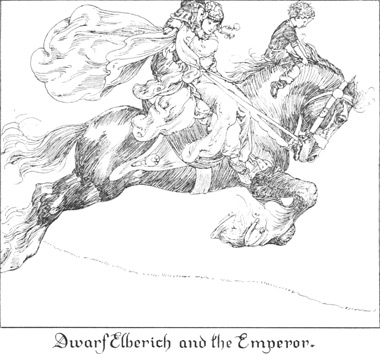 Dwarf Elberich and the Emperor.