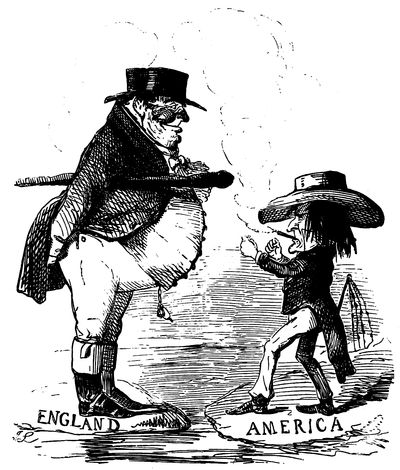 the project gutenberg e book of the history of the nineteenth 18th Century Political Cartoon for the Backcountry what you young yankee noodle strike your own father