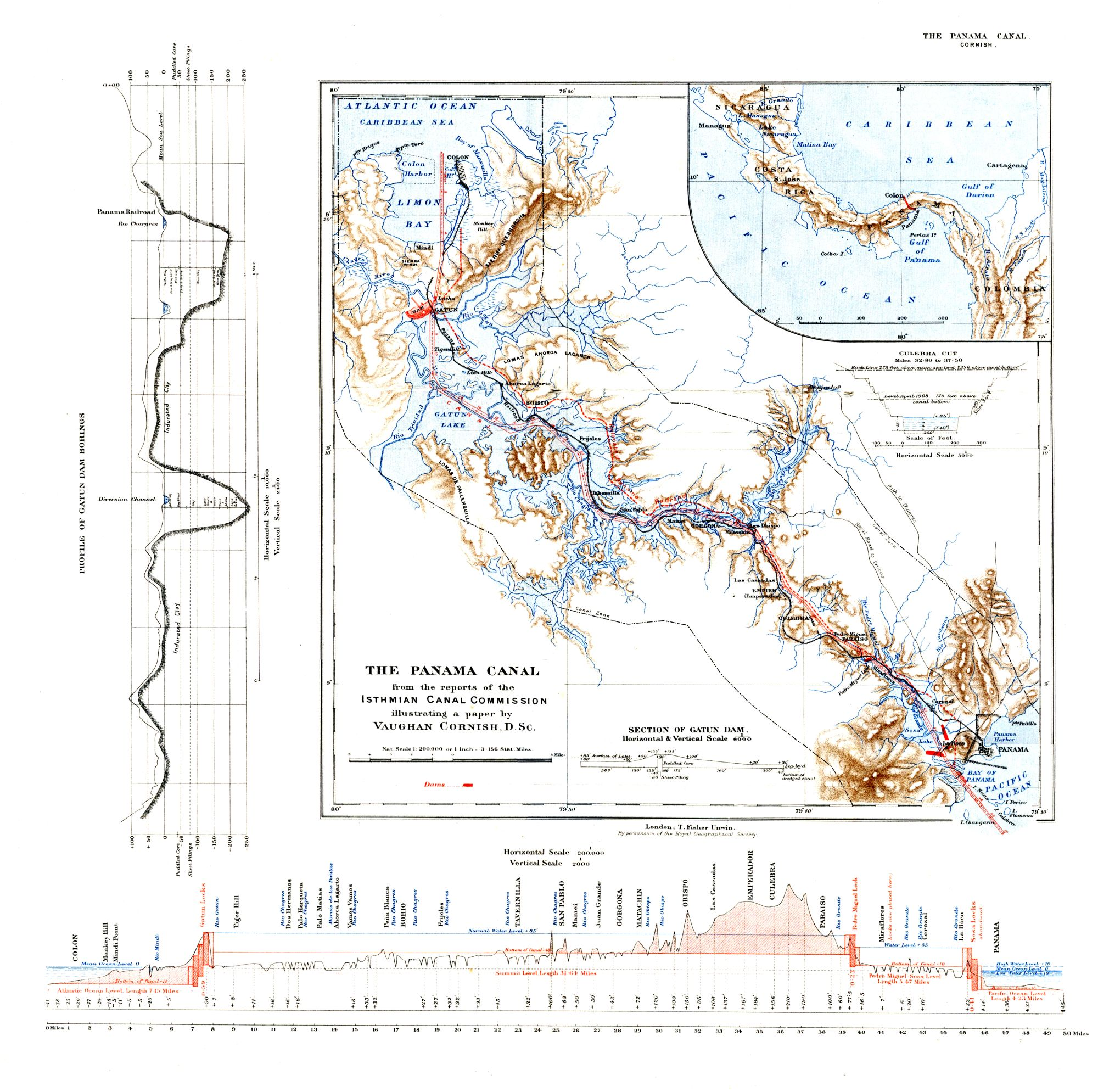 The Project Gutenberg Ebook Of Panama Canal And Its Makers By Process Flow Diagram Map Zone