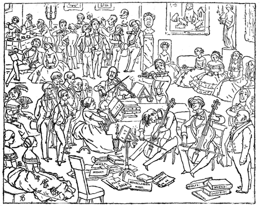 Chamber Music Drawing 11 a Few Friends to Tea