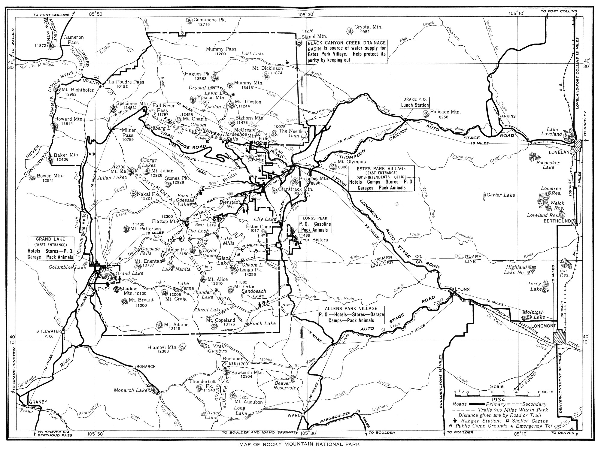 The Project Gutenberg EBook Of Rocky Mountain COLORADO National Park By United States Department Interior