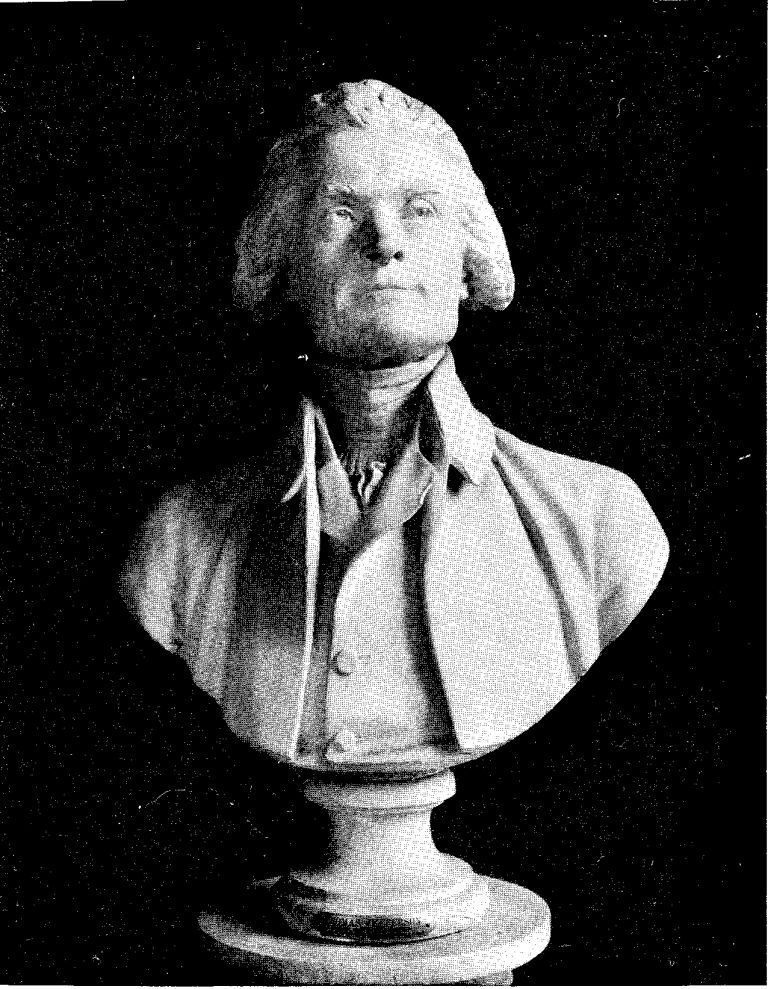 BUST OF THOMAS JEFFERSON BY HOUDON