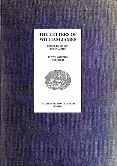 The project gutenberg ebook of the letters of william james vol ii image of the books cover fandeluxe Image collections