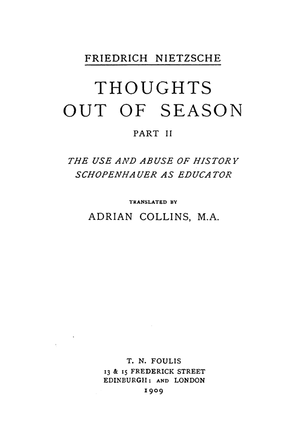 The Project Gutenberg Ebook Of Thoughts Out Of Season Part Ii By