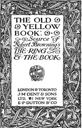 The Old Yellow Book By Anonymous