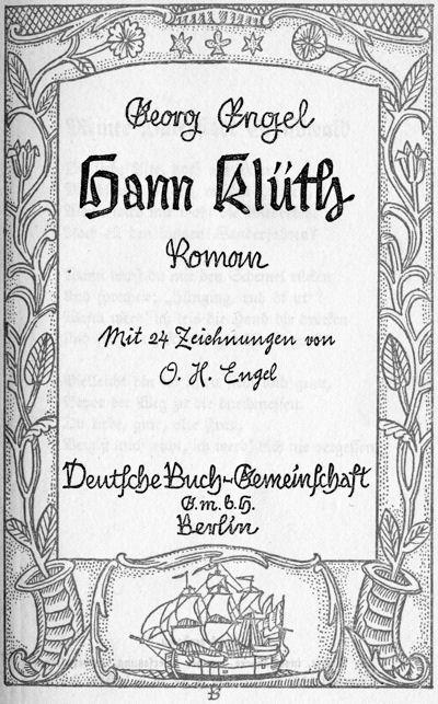 Hann Klüth, by Georg Engel a Project Gutenberg eBook.