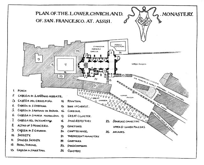 PLAN OF THE LOWER CHURCH AND MONASTERY SAN FRANCESCO AT ASSISI