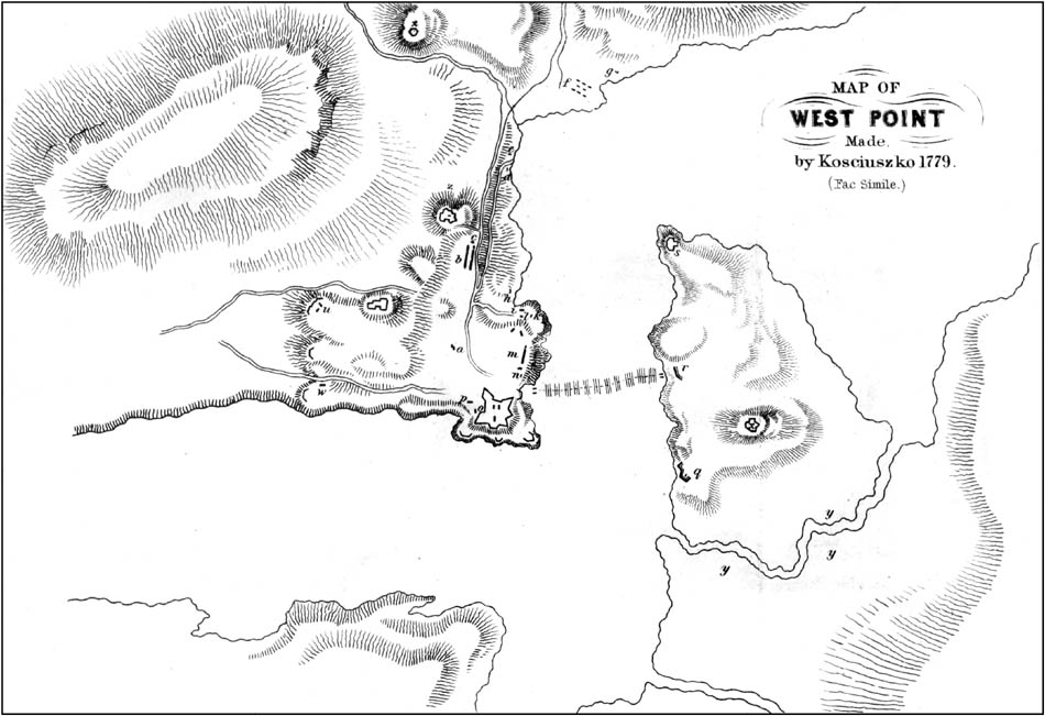 Map of West Point
