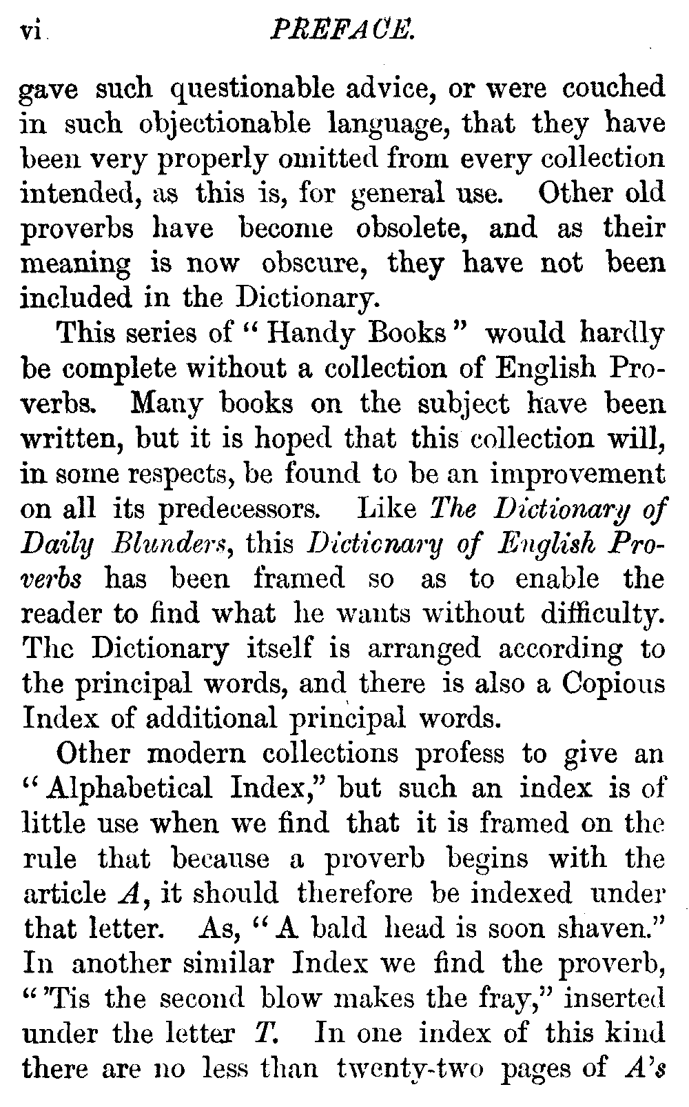 The Project Gutenberg Ebook Of A Dictionary Of English Proverbs  Preface