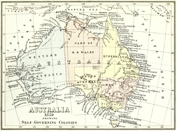 map australia 26th parallel