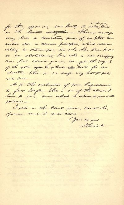 The project gutenberg ebook of recollections of abraham lincoln 1847 hand written letter page 2 altavistaventures Gallery
