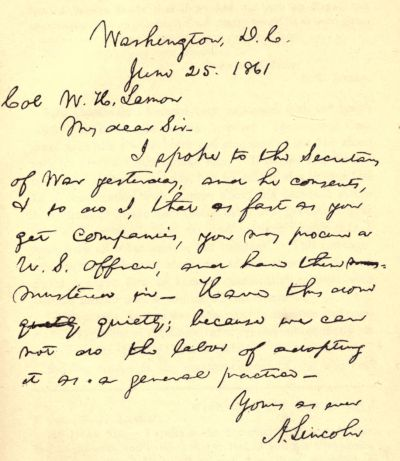 The project gutenberg ebook of recollections of abraham lincoln 1847 hand written letter altavistaventures Gallery