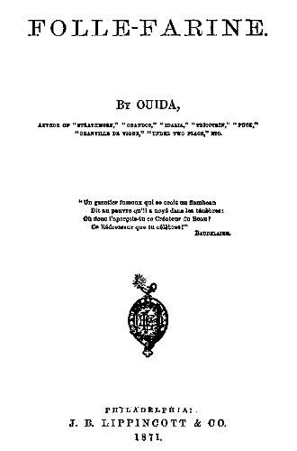 The Project Gutenberg Ebook Of Folle Farine By Ouida