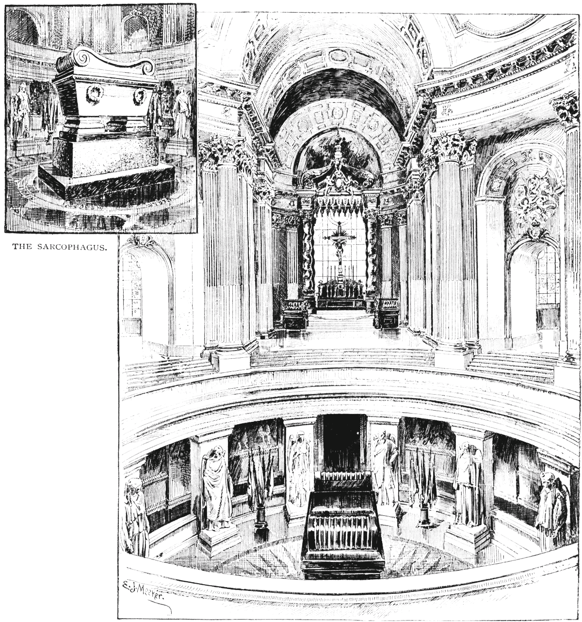 The project gutenberg ebook of st nicholas for boys and girls 86 the sarcophagus the tomb of napoleon bonaparte in the church of the hotel des invalides fandeluxe Choice Image