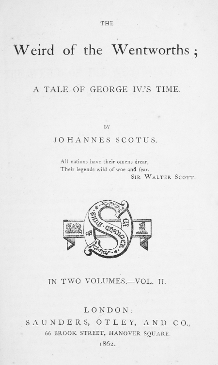 The Project Gutenberg eBook of The Weird of the Wentworths, Vol. II ...