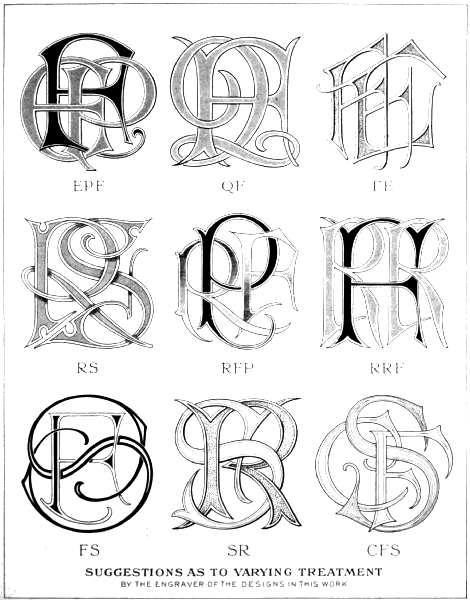 suggestions as to varying treatment by the engraver of the designs in this work
