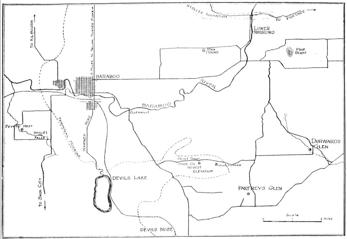 Map Of The Interesting Baraboo Region