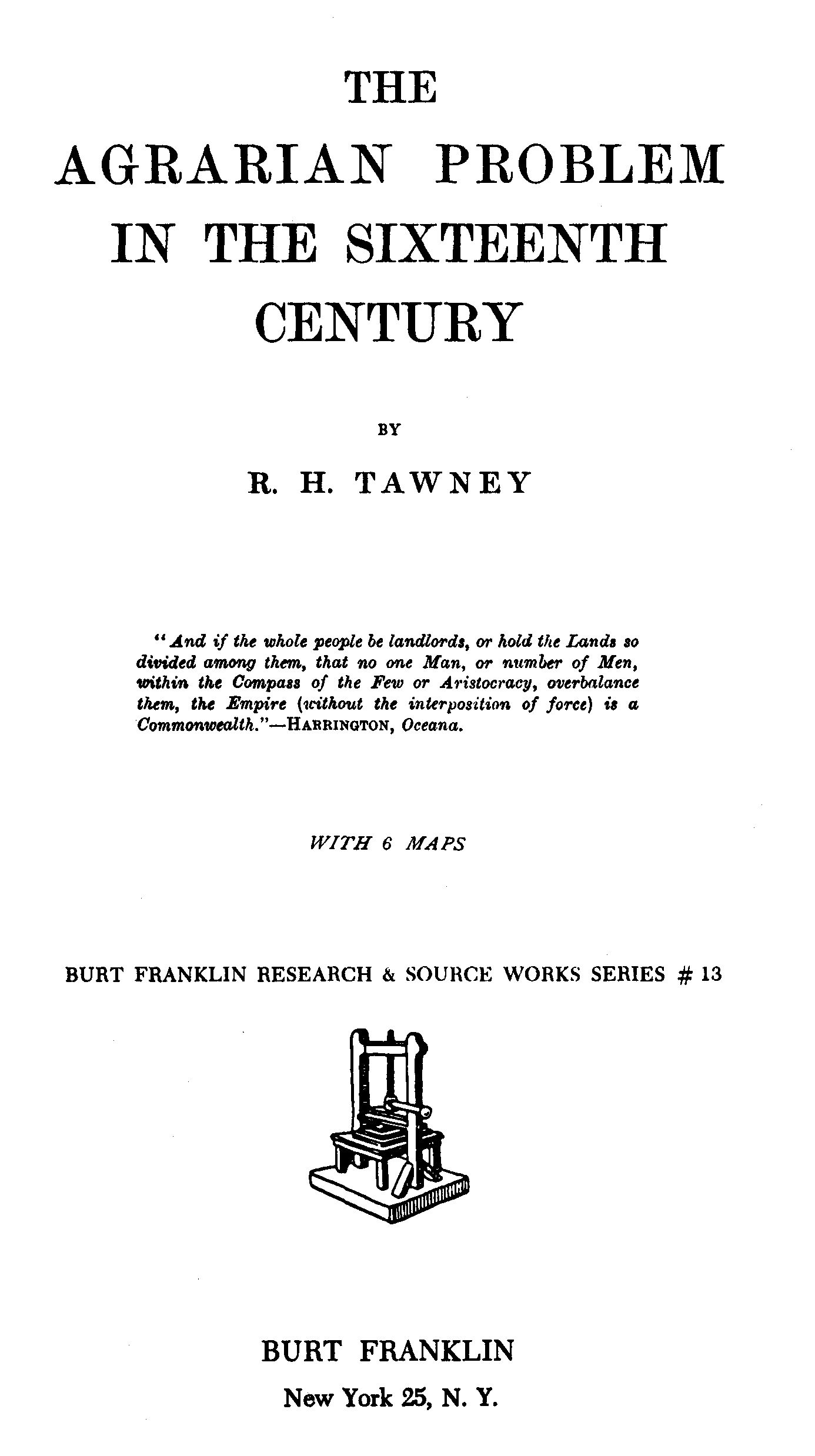 The Project Gutenberg eBook of The Agrarian Problem in the
