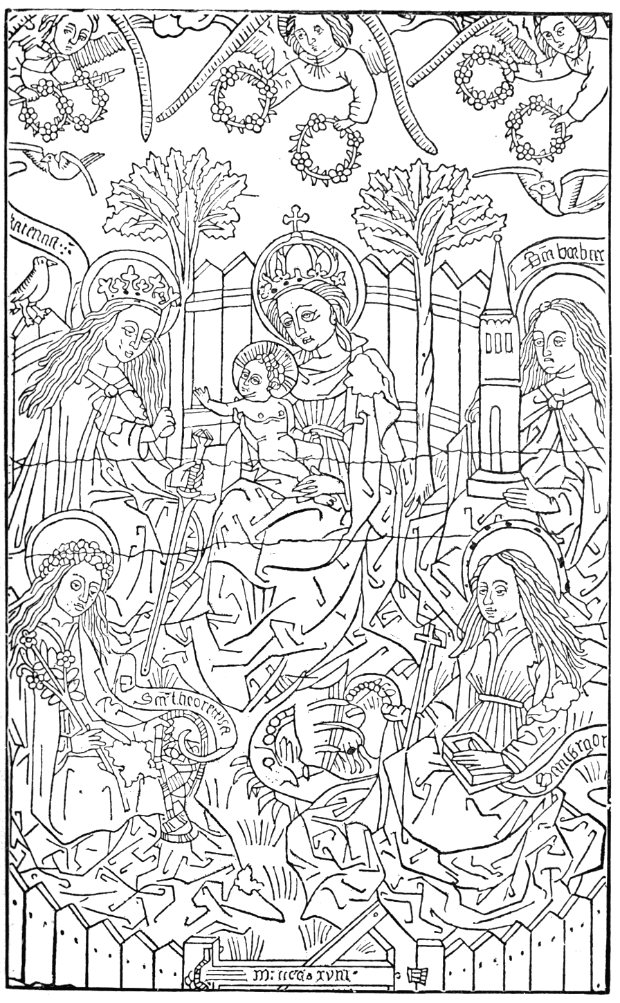 The coloring book project 2nd edition - The Virgin With Four Saints