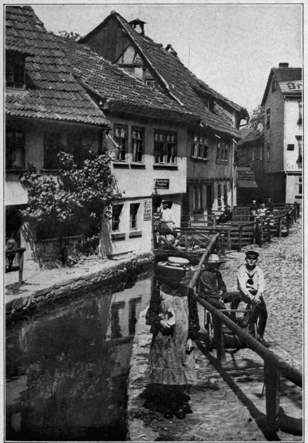 The project gutenberg ebook of the iron ration by george abel schreiner copyright by underwood underwood n y street scene at eisenbach southern germany from the nvjuhfo Images
