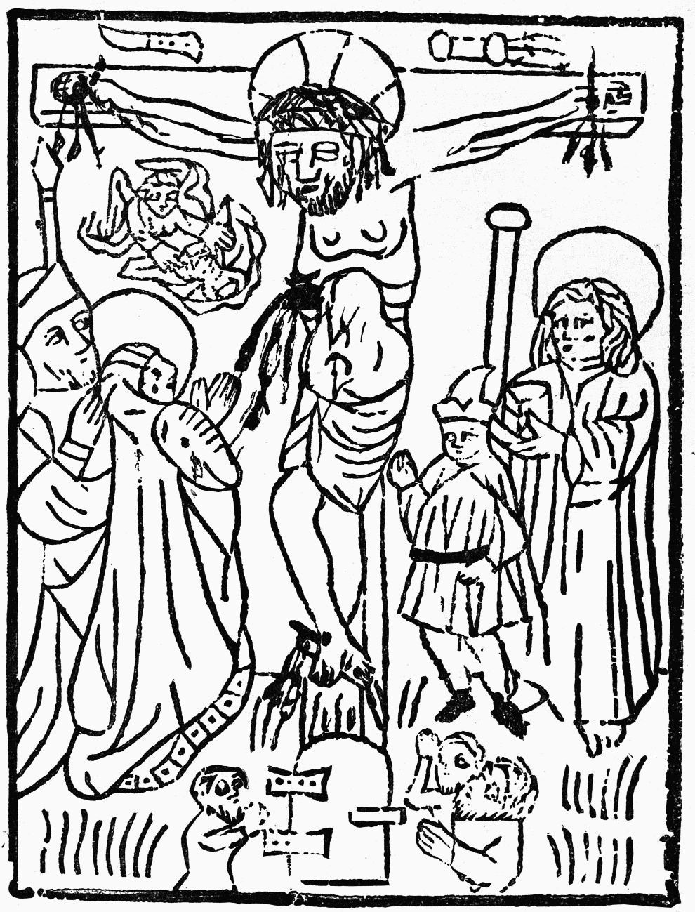 The project gutenberg ebook of a history of wood engraving by fig 3the crucifixion from the manuscript book of devotion fandeluxe Choice Image