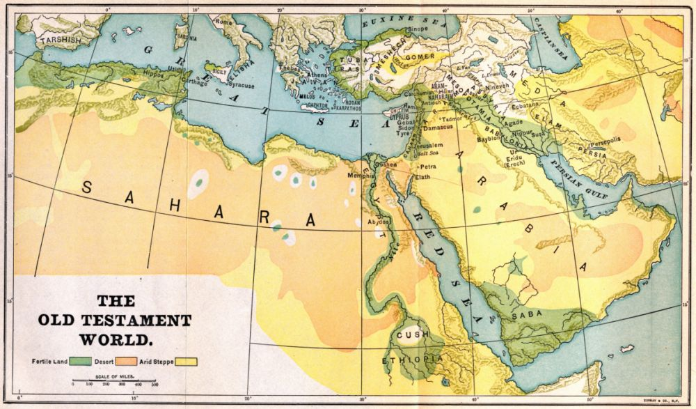 The Project Gutenberg EBook Of Biblical Geography And History By - Map of egypt in old testament times