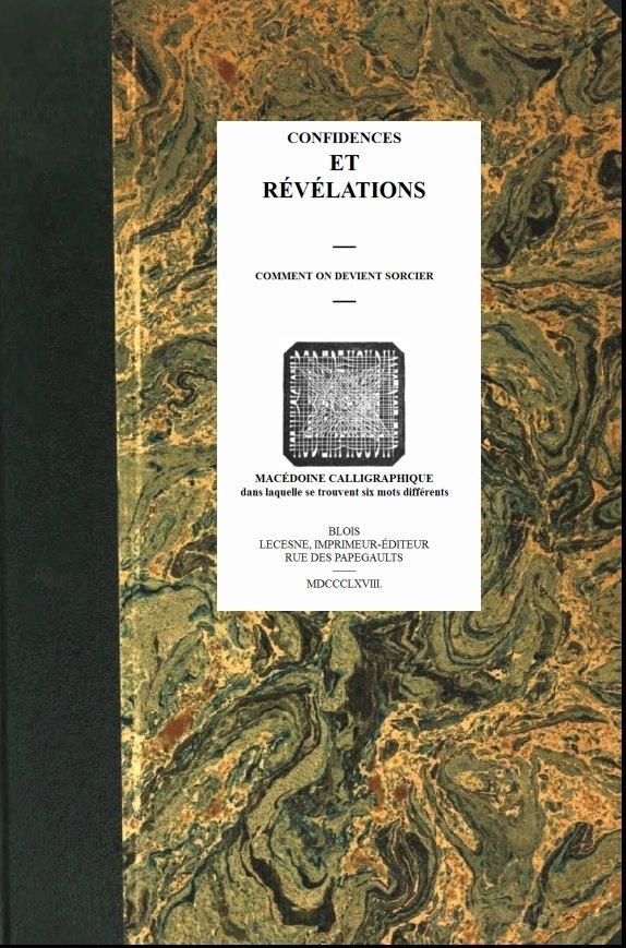 The Project Gutenberg Ebook Of Confidences Et Révélations