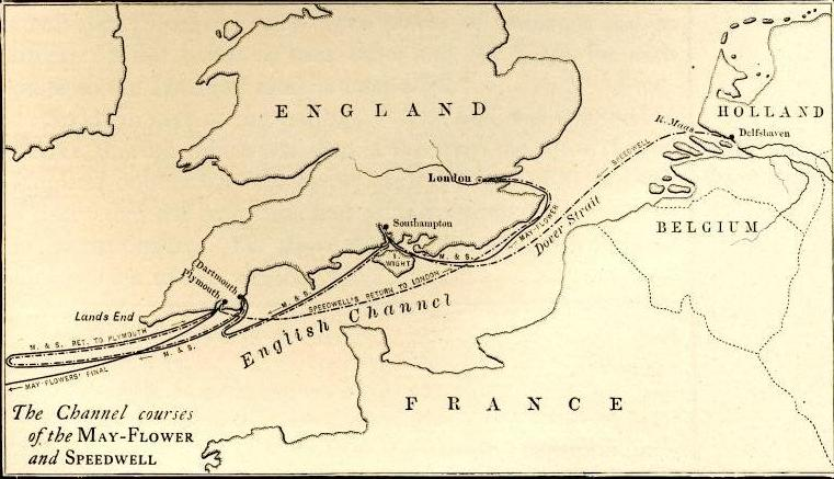 Scrooby England Map.The May Flower And Her Log By Azel Ames