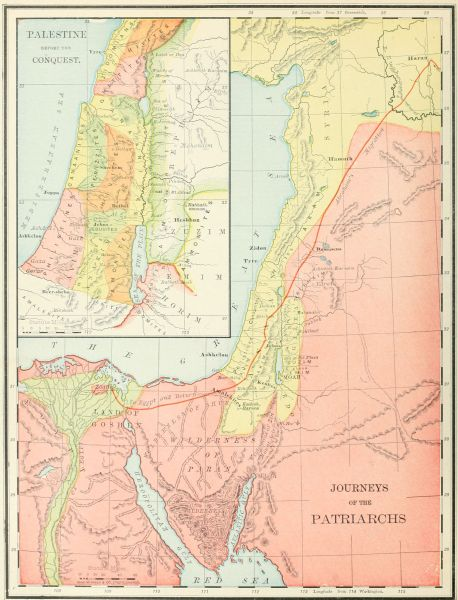 PALESTINE BEFORE THE CONQUEST. and JOURNEYS OF THE PATRIARCHS