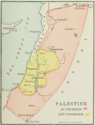 map: PALESTINE AS PROMISED AND POSSESSED.