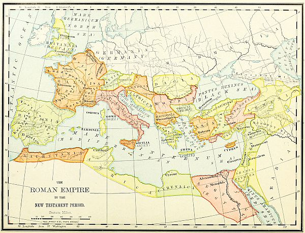 The project gutenberg ebook of bible atlas by rev jesse l hurlbut map the roman empire in the new testament period gumiabroncs Gallery