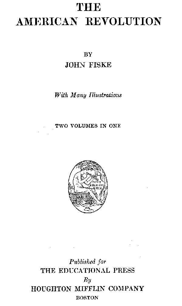 The american revolution by john fiskea project gutenberg ebook the topics were nearly all printed as marginal sidenotes depending on your reading device you may see these topics as right justified blocks or as fandeluxe Images