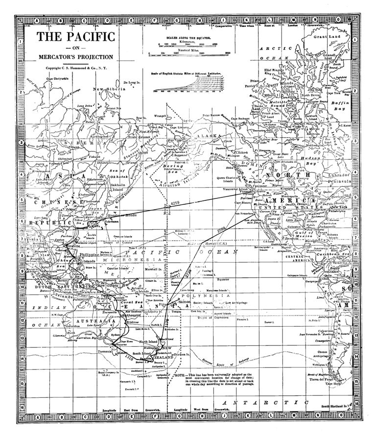 The project gutenberg ebook of the pacific triangle by sydney greenbie map of the pacific fandeluxe Images