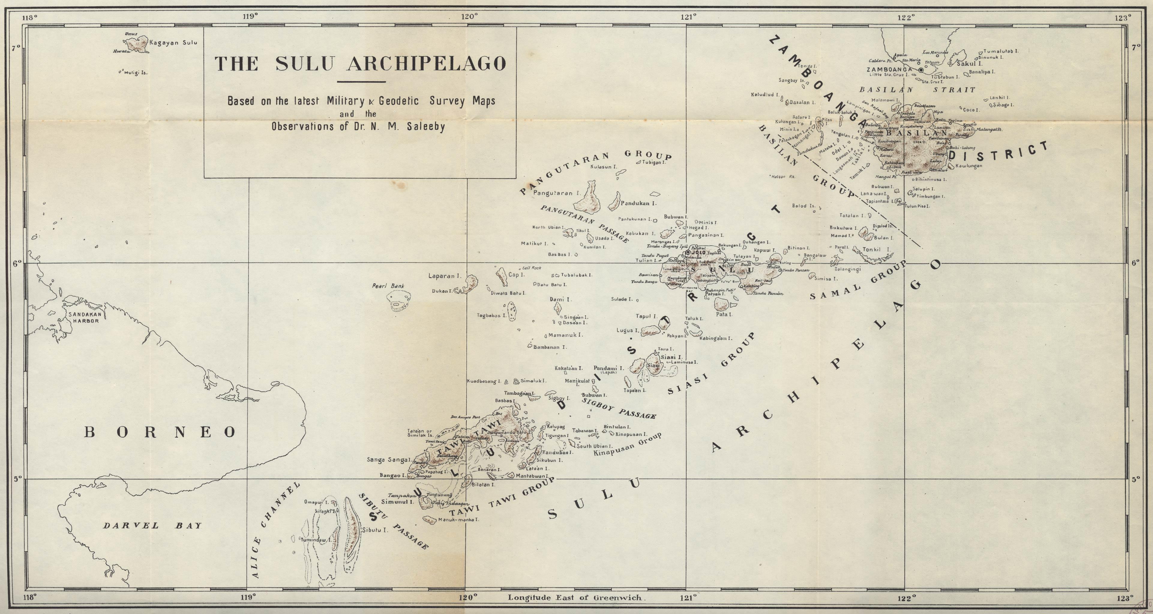The history of sulu the sulu archipelago fandeluxe Gallery