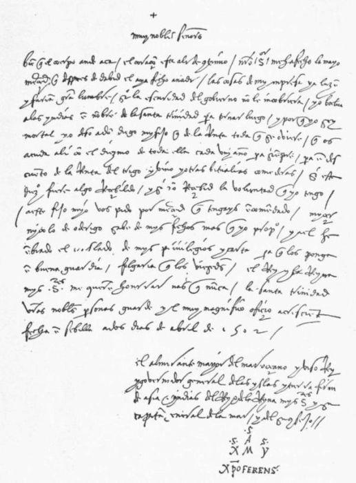 columbus letter to luis de santangel